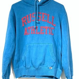 Russell Athletics blue hooded pullover size small